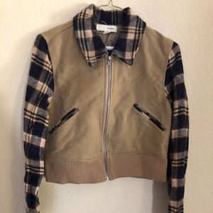 Pins & Needles Flannel Bomber Jacket (M)